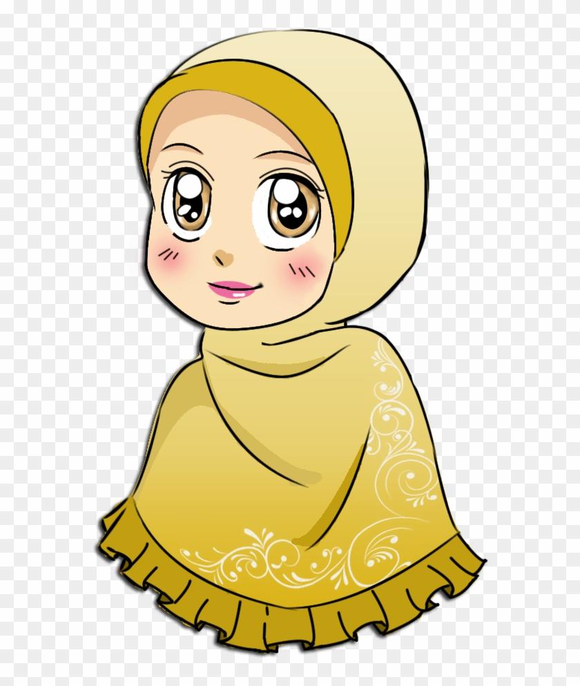 Muslim Animasi Wanita Berhijab Png Free Transparent Png Clipart Images Download