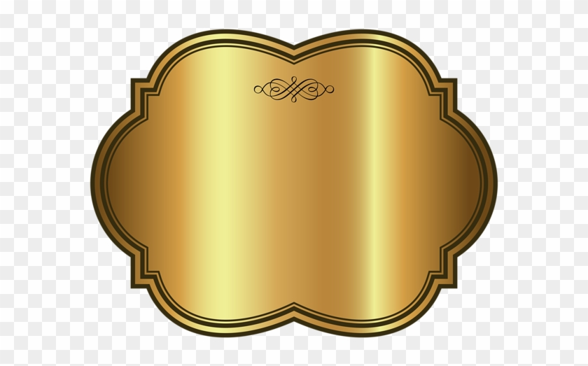 Label Template Gold Png Clip Art Image Transparent Banner Free