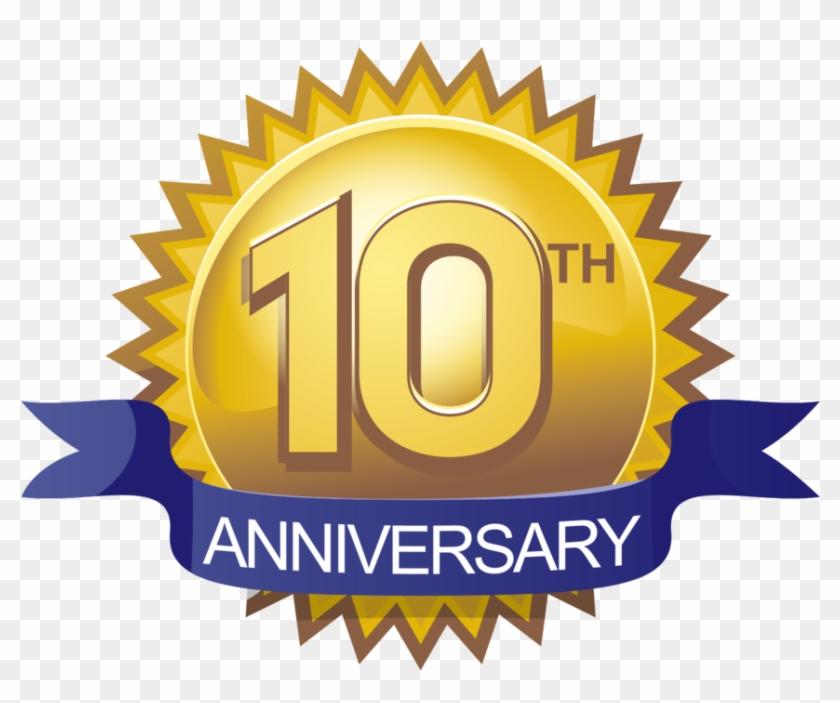 Clip Art 10th Anniversary Clip Art - 10th Anniversary Logo Png #153882