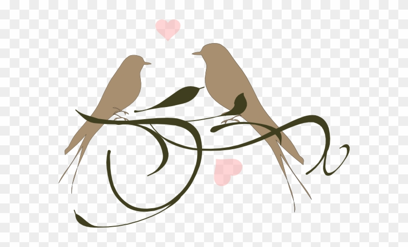 Wedding Birds Clipart Love Clip Art At Clker Com Vector - Clip Art Love Birds #154227