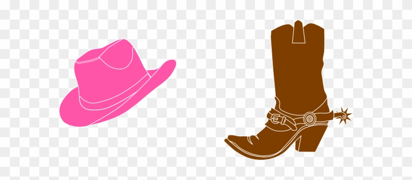 Cowboy Boot Cowgirl Hat And Boot Clip Art At Vector - Cowgirl Hat Clip Art #154590