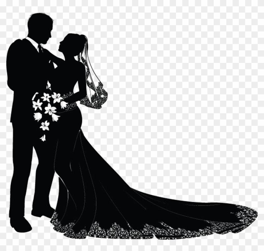 Wedding Invitation Bridegroom Clip Art - Bride And Groom Vector #154885