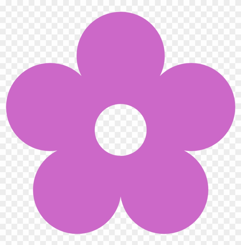 60s Flower Clipart Hippie Flower - Colored Flower Clipart #154988