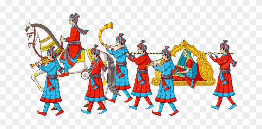 Wedding Images Clip Art Png - Indian Wedding Baraat Clipart #155191