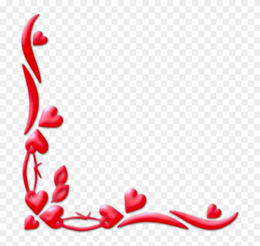 Valentine Frame - Heart Corner Border Png - Free Transparent PNG ...