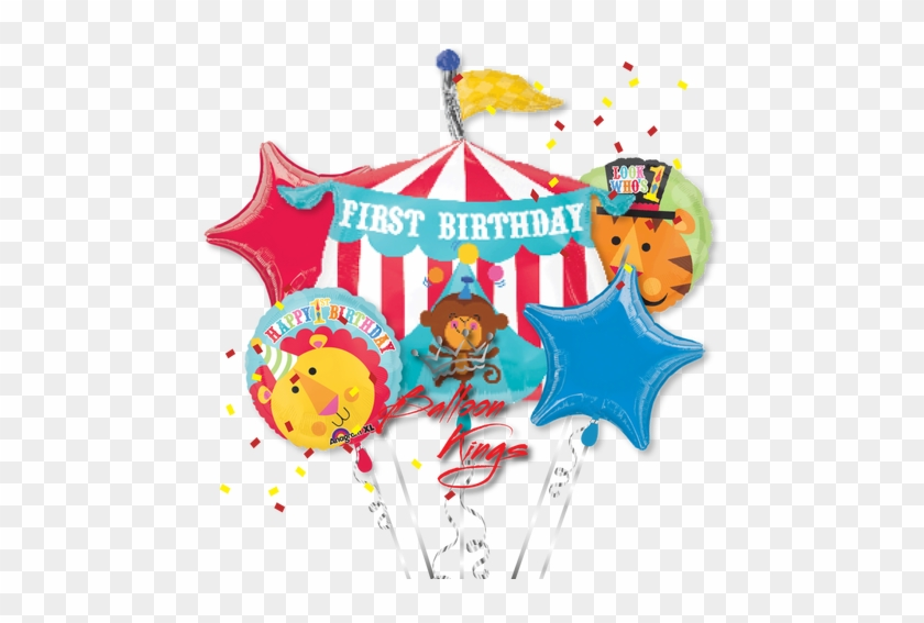 1st Birthday Circus Bouquet 23 Fisher Price First Birthday Circus Tent Mylar Free Transparent Png Clipart Images Download