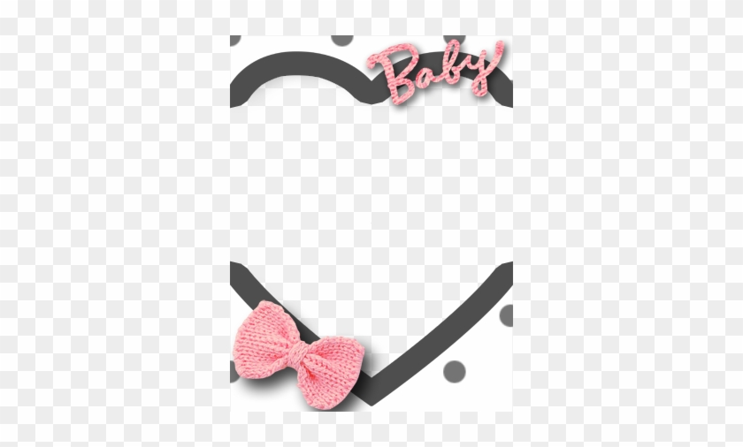 Heart Baby With Bow Frame By Thekarinaz On Deviantart - Baby Heart Frame Png #816039