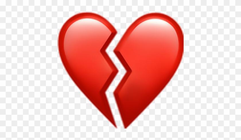 Heart Heartbreak Red Icon Emojisticker Like Iphone Broken Heart