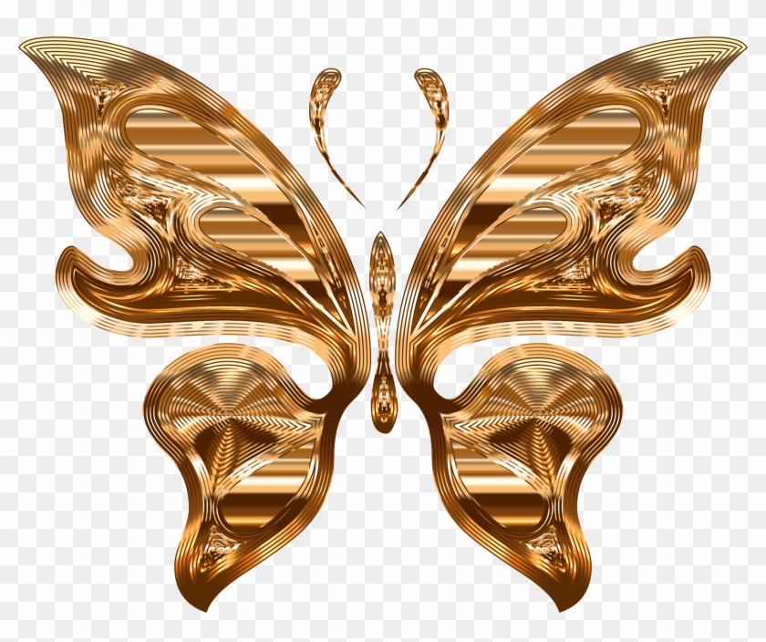 This Free Icons Png Design Of Prismatic Butterfly 10 - Gold Butterfly Silhouette Background #816777