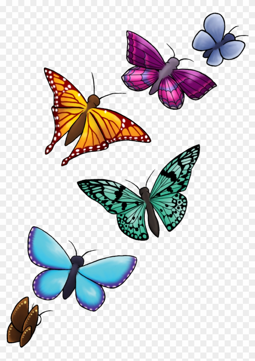 Download Butterfly Tattoo Designs Png Clipart Hq Png - Butterfly Tattoo Designs #816888