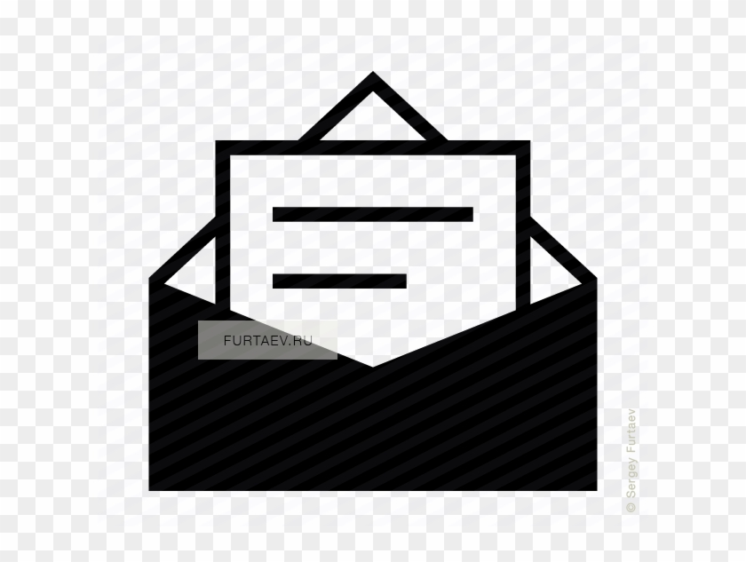 Vector Icon Of Opened Envelope With Text Page Inside Email Symbol