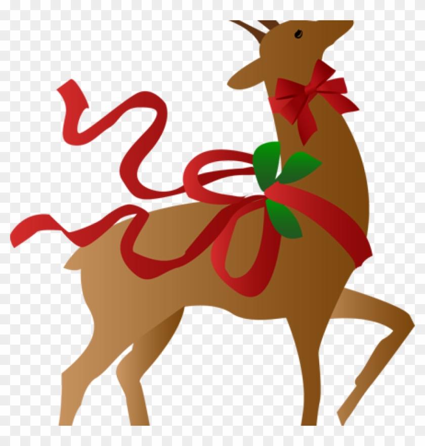 reindeer clipart free a christmas clip art merry and christmas reindeer - Christmas Clip Art Free