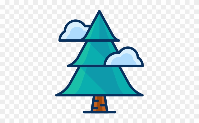 Filled Line Christmas Icons - Tree Pine Icon Png #818208