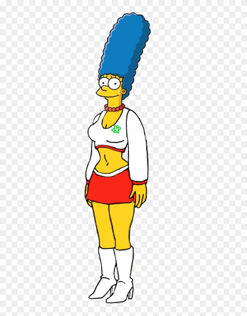 Marge Simpson As A Cheerleader By Darthraner83 - Lisa Simpsons Sexy Cheerleader #818698
