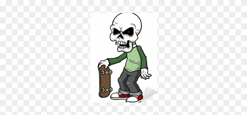 Vector Illustration Of Cartoon Zombie Sticker • Pixers® - Dibujos De Zombies Animados #818890