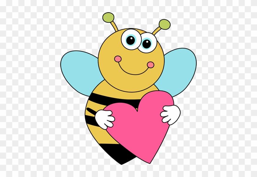 Bee Border Clip Art Cartoon Valentine - Cute Valentines Day Clipart #820239