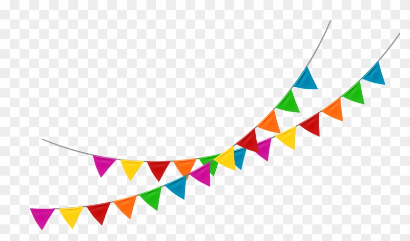 Flag Banner Pennon Bunting - Colored Flag Banner Png #820621