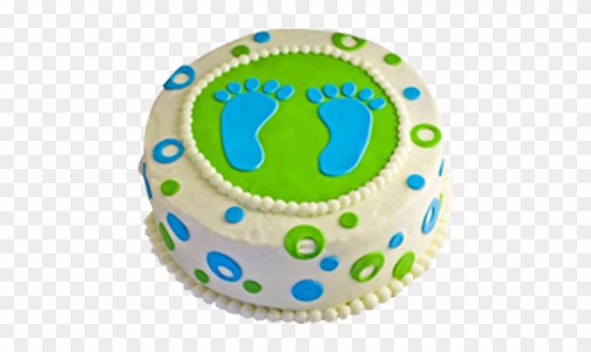 Small Step Cake - Baby Boy Shower Cakes #820666