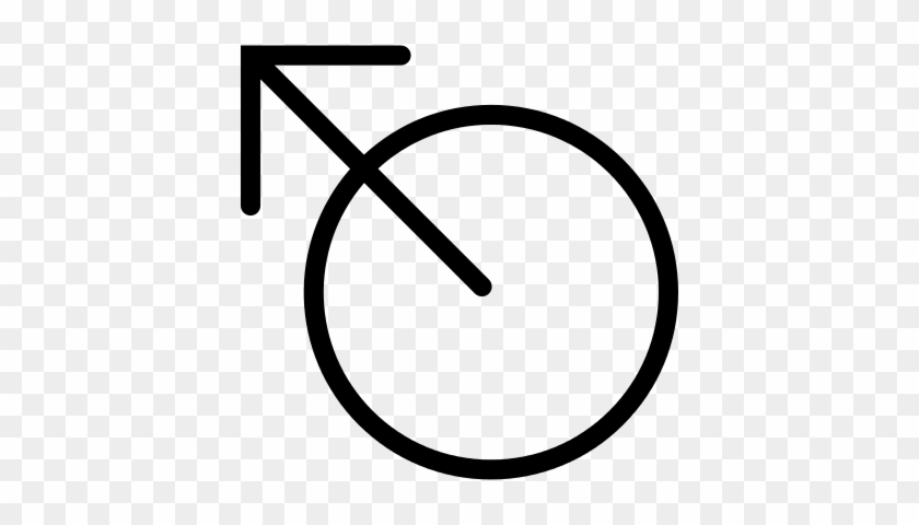 Diagonal Arrow Pointing Up From A Circle Vector - Circle With Arrow Symbol #821083