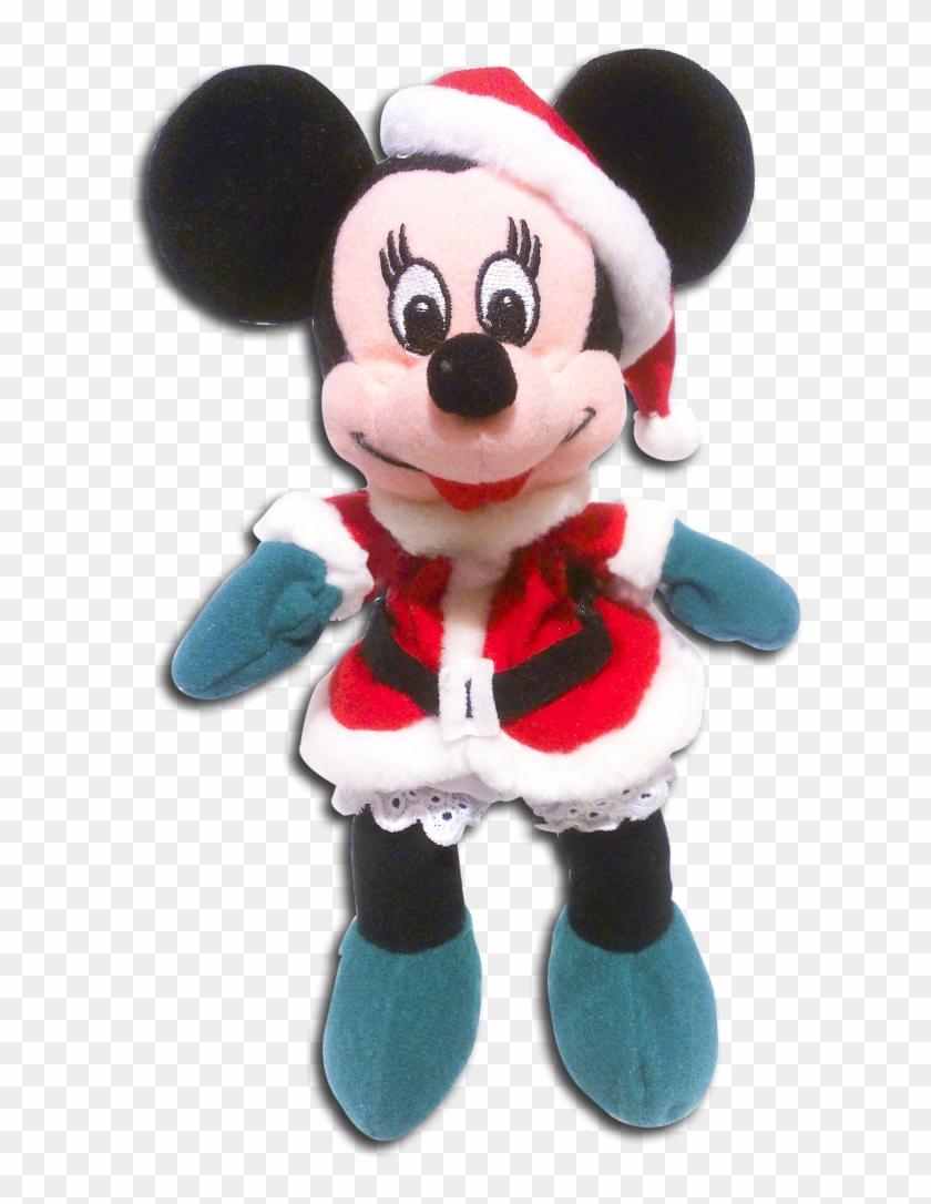 disney store plush minnie mouse santa christmas stuffed stuffed toy - Christmas Stuffed Animals