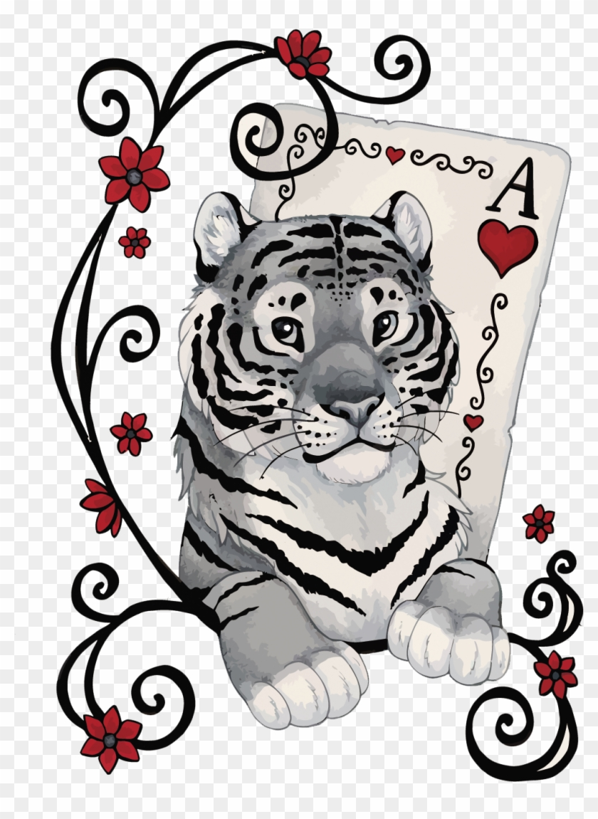 Tiger Poker French Playing Cards - T-shirt #822521