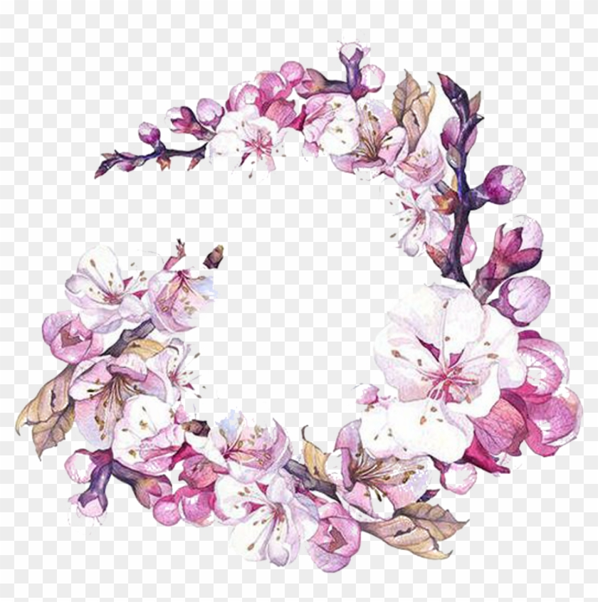Watercolor Painting Flower Art Cherry Blossom - Sakura Flower Watercolor Png #822730