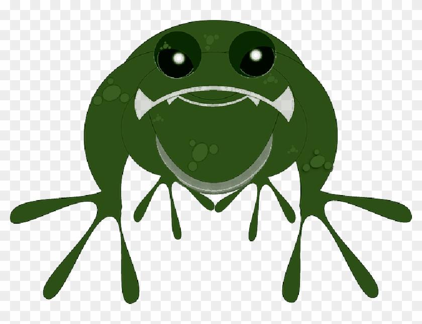 Animal Frogs, Frog, Water, Green, Cartoon, Amphibian, - Frog Clip Art #822907
