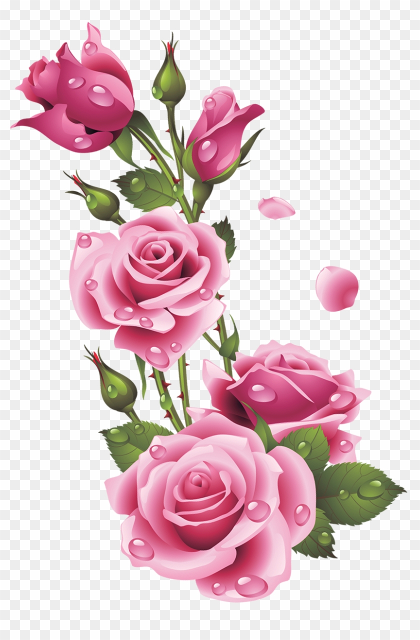 Ruze Category Flower Corner Decoration Png Hd Free Transparent
