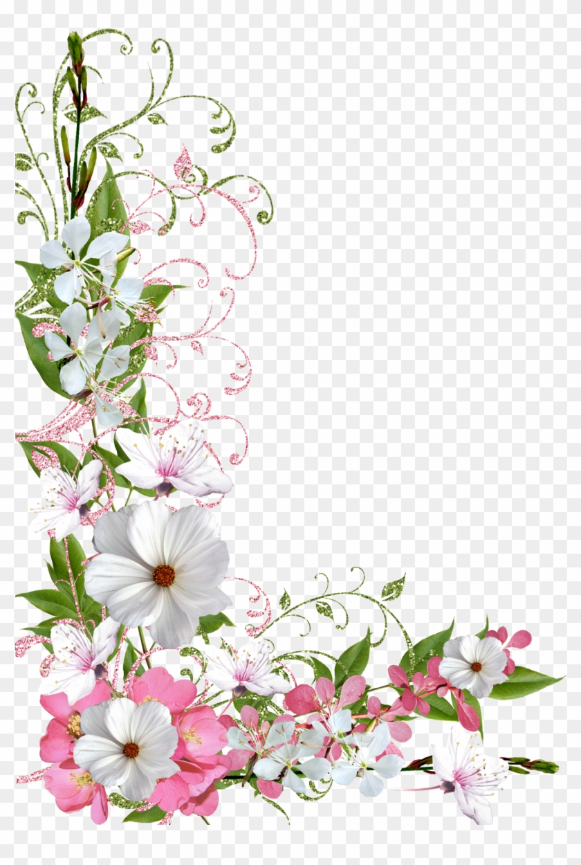 Pink And Green Spring Decor Png Picture Clipart Spring Flowers