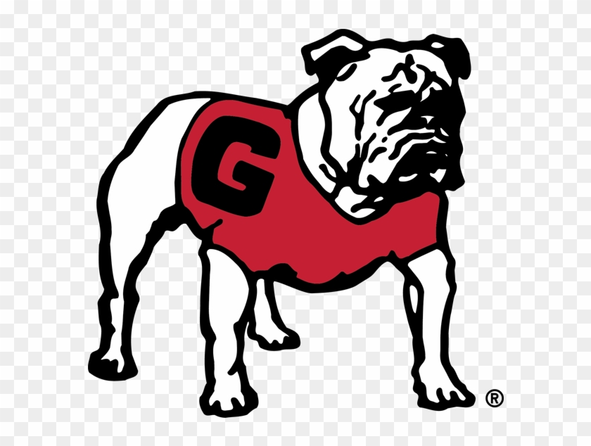 Uga Stickers Messages Sticker-4 - Georgia Bulldogs Old Logo #823547