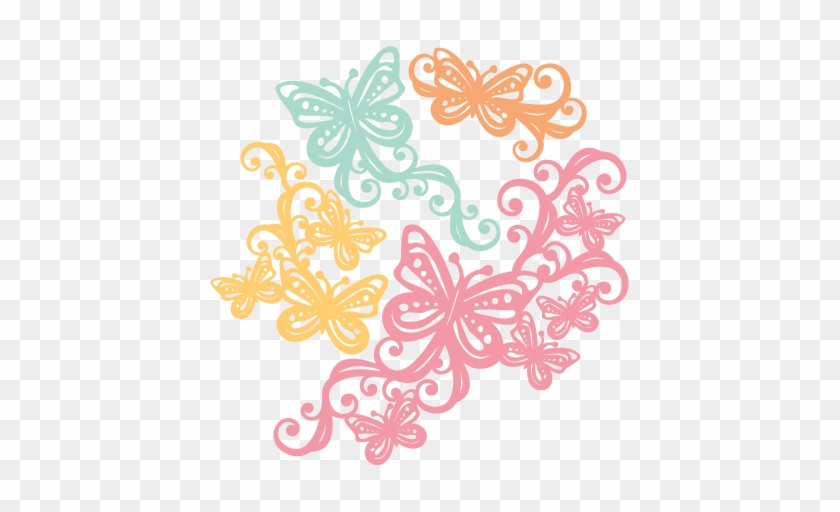 Butterfly Flourishes Svg Scrapbook Cut File Cute Clipart - Butterfly Svg Cutting File #823720