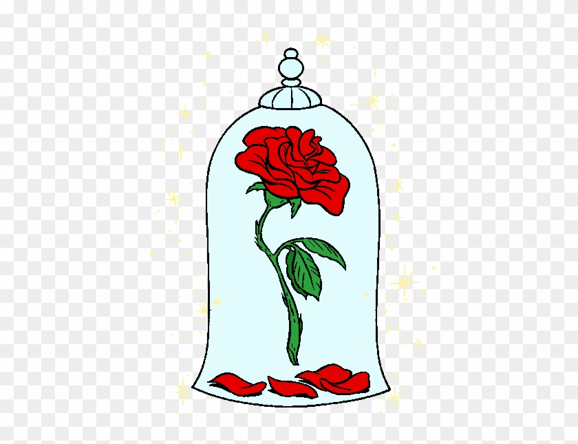 Beauty And The Beast Rose Clipart - Beauty And The Beast Rose Png #824204