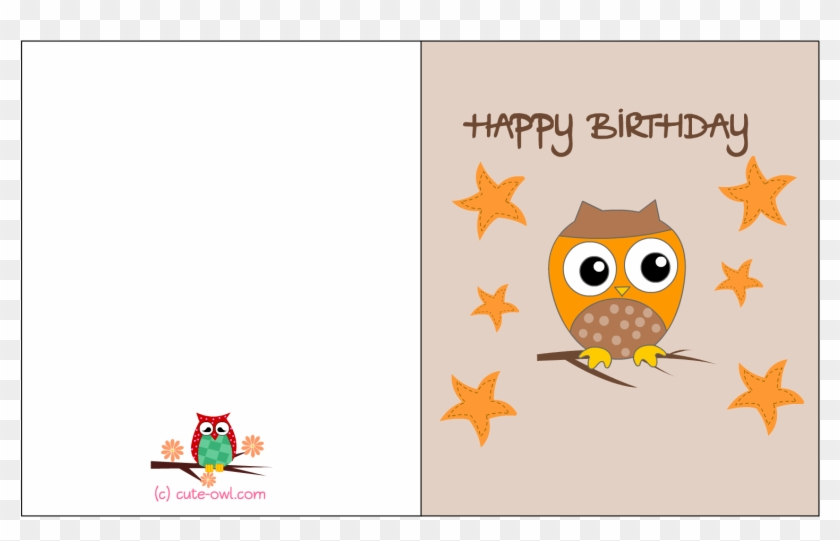 Free Printable Owl Themed Birthday Card Printable Girl Birthday