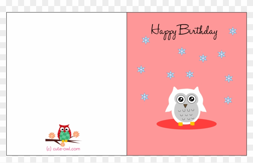 Card Invitation Design Ideas Cute Snowy Owl Happy Birthday Happy