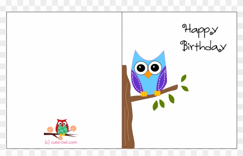 Greeting Cards Printable Owl Birthday Free Card Designs Printable