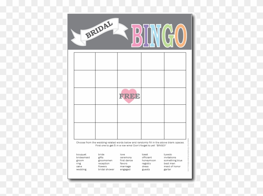image relating to Free Printable Bridal Shower Bingo called Printable Bridal Shower Bingo Card - Bingo Card - No cost