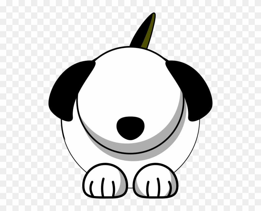 Clipart Dog Eyes White With No Clip Art At Clker Com - Cartoon Dog Without Eyes #825251
