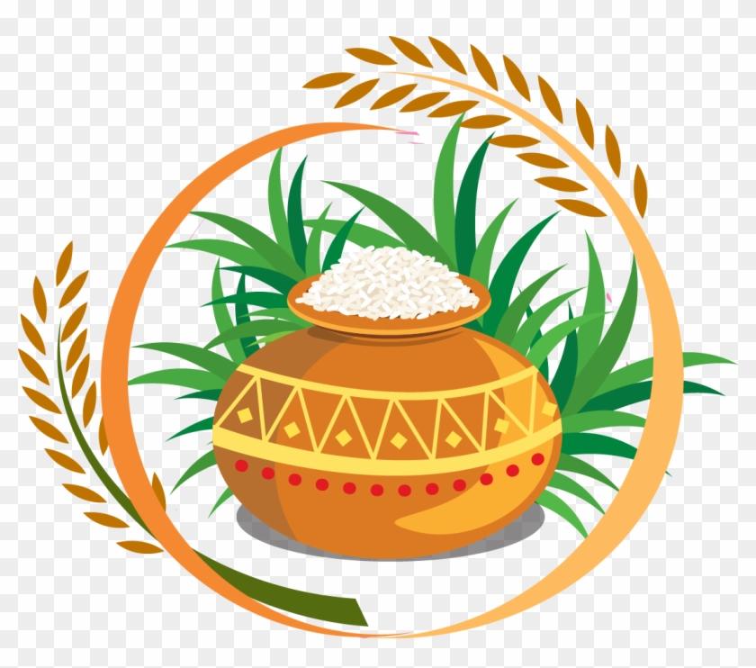 Thai Pongal Harvest Festival Clip Art - Happy Pongal Logo Png #825279