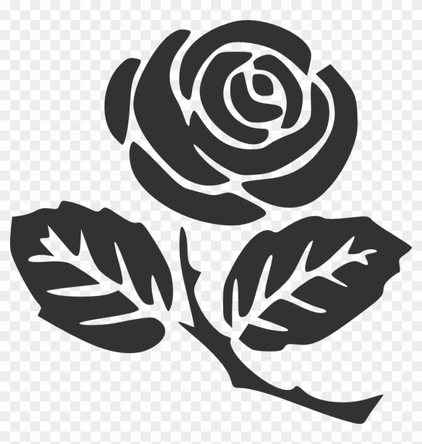 Free Single Rose Black And White Clip Art with No Background - ClipartKey