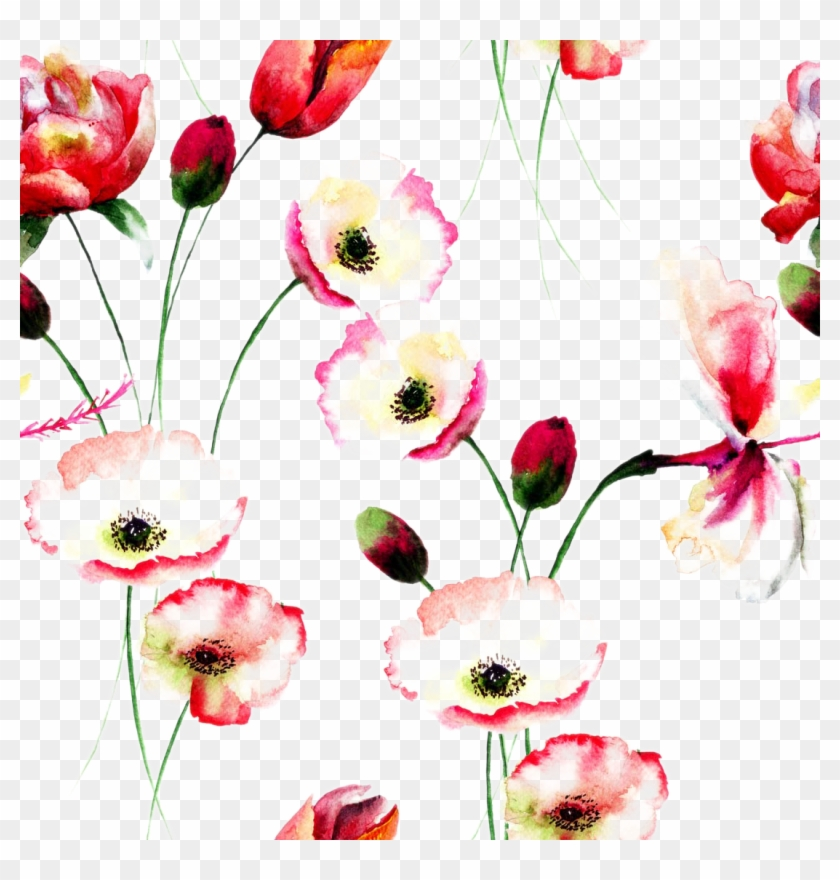 Poppy flowers watercolor painting floral design positive simple poppy flowers watercolor painting floral design positive simple reminder quotes mightylinksfo