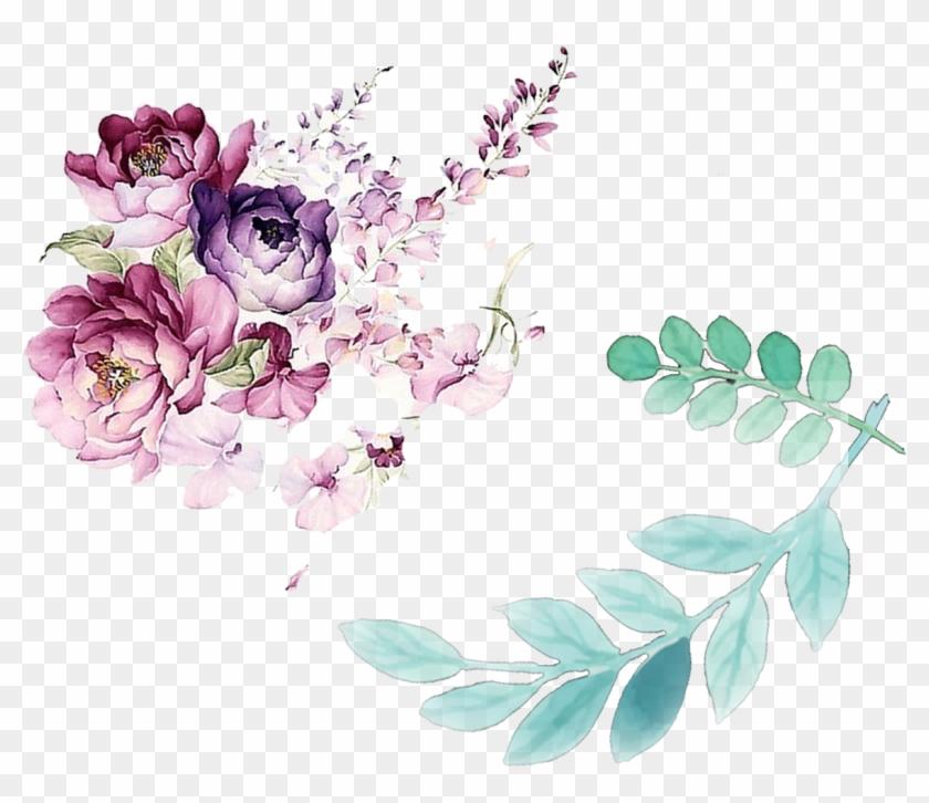 Floral Design Watercolor Painting Flower - Transparent Flower Watercolor Png #825631