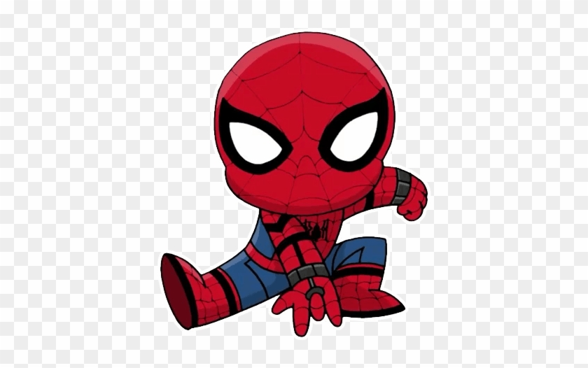 Chibi Telegram Sticker Spiderman Homecoming Coloring Pages
