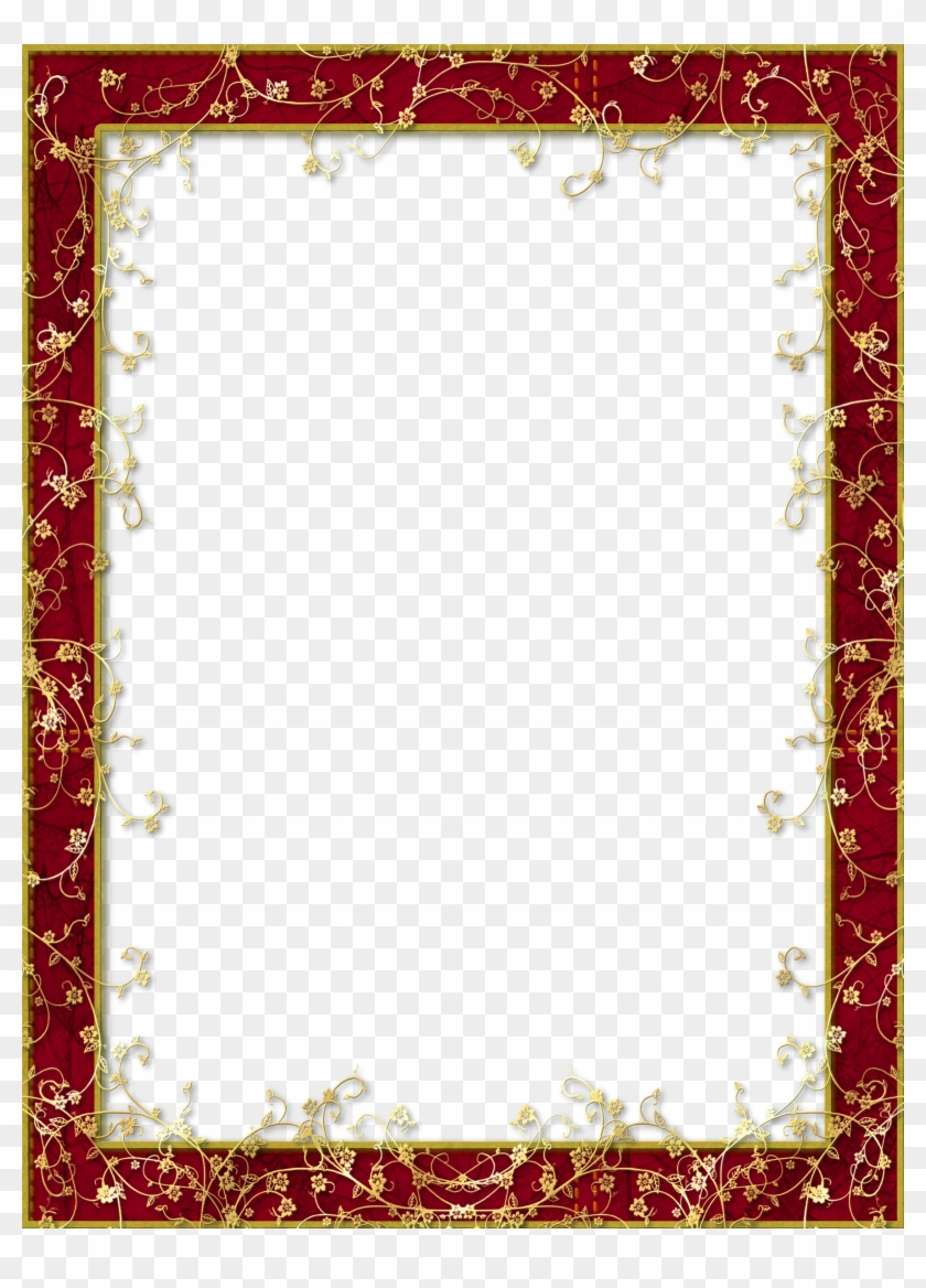 Red Gold Frame Png Free Transparent Png Clipart Images Download
