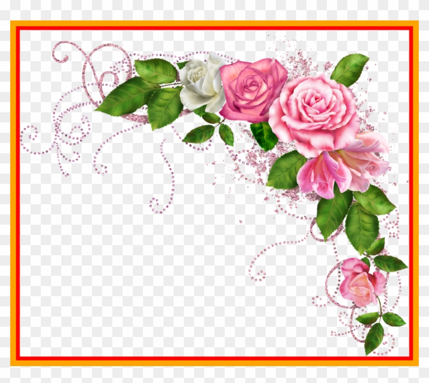 Red Rose Border Corner Png Awesome