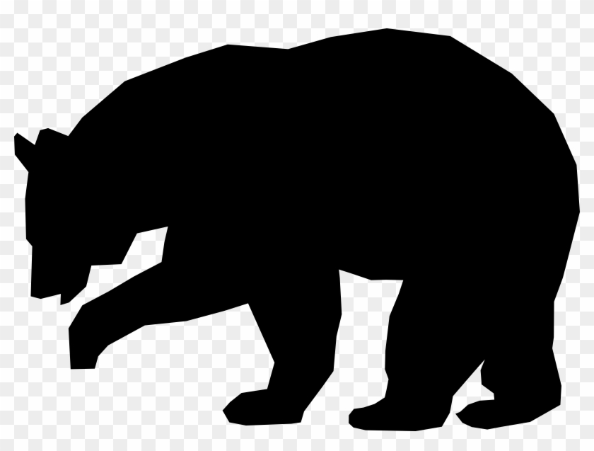 bear black and white black bear clip art clipart bear silhouette rh clipartmax com black bear clip art pinterest black bear clip art pictures