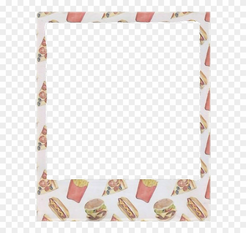 Frame Marco Aesthetic Aesthetics Pizza Sticker Stickers - We Heart It Transparent Polaroid #826921