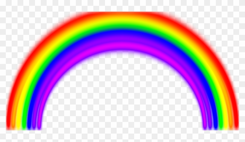 Simple Rainbow With Blur - Semi Circle Shaped Objects #826991