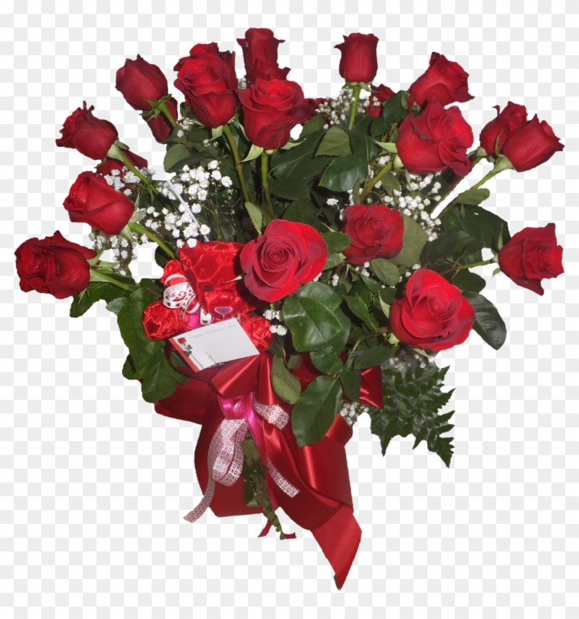 2 Dozen Red Roses In A Vase - Beautiful Red Rose Flower #827086