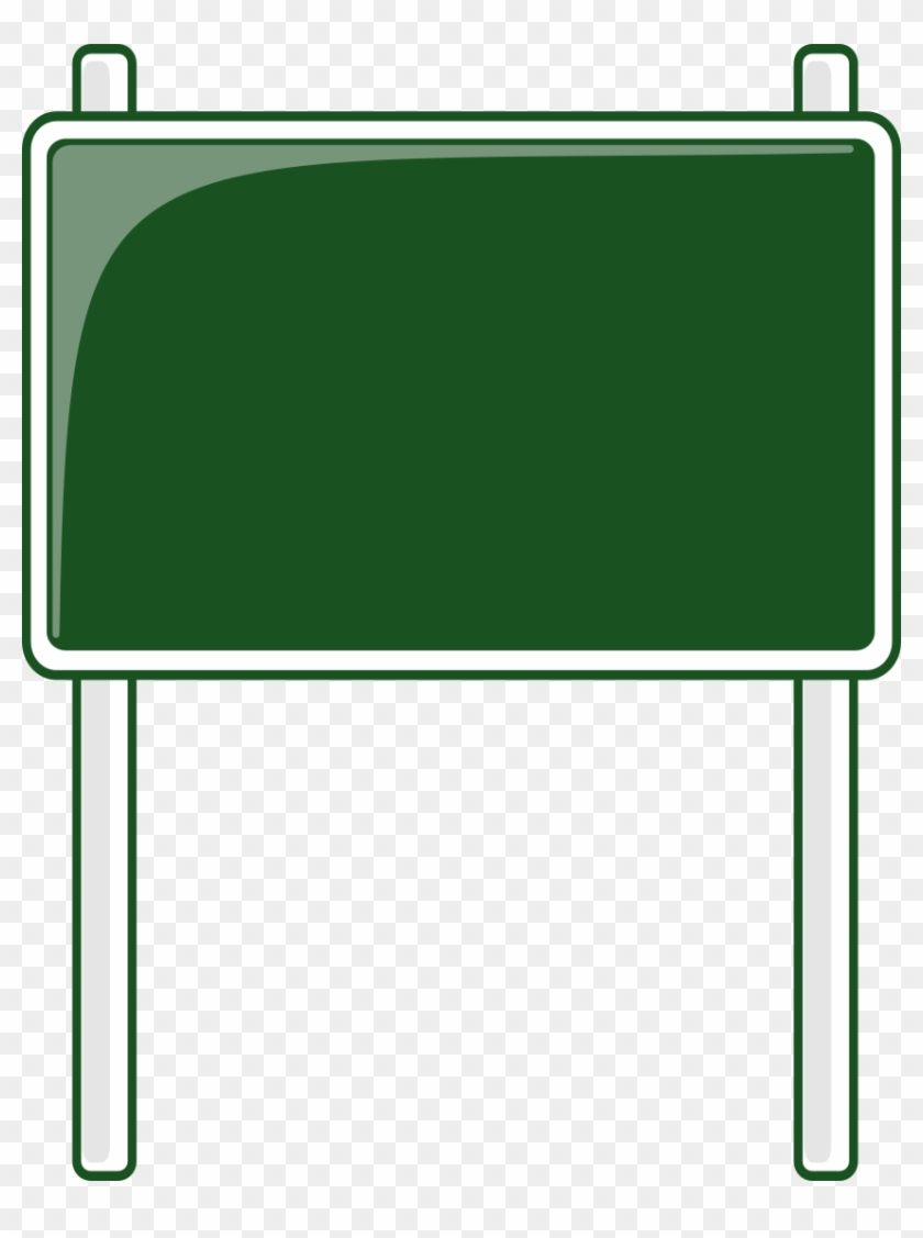 Road Sign Green Blanks Road Signs Highway Signs Road - Blank Road Sign Clipart #827094