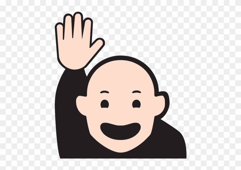 Happy Person Raising One Hand Emoji For Facebook Raising Hand